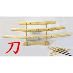 New Japanese Natural Wood Shirasaya Sword+Display Stand#27
