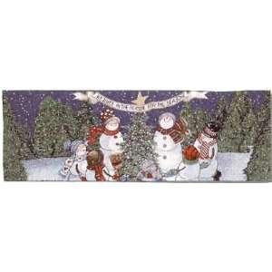 Snowmen Rejoice Christmas Table Runner