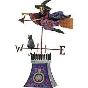 Jim Shore   Heartwood Creek   Skeleton Witch with Broom by