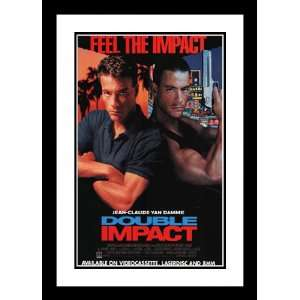 Double Impact 32x45 Framed and Double Matted Movie Poster   Style B