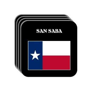 US State Flag   SAN SABA, Texas (TX) Set of 4 Mini Mousepad Coasters