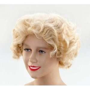 Marilyn Monroe Blonde Fancy Dress Wig Inc FREE Wig Cap