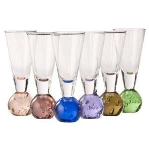 Fireball Six Piece Shot Glass Set Muli color Kitchen & Dining