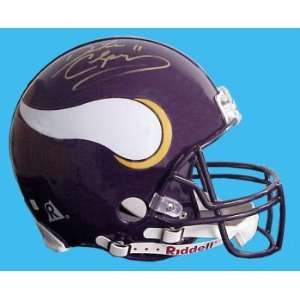 Dante Culpepper Hand Signed Vikings Helmet Everything