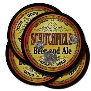 Scritchfield Beer and Ale Coaster Set:  Kitchen & Dining