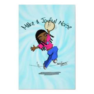 Nzinga   Make a Joyful Noise Blue   POSTER from Zazzle