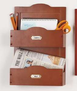 Wooden Wall Mail Bill Organizer Wood Hanging Storage