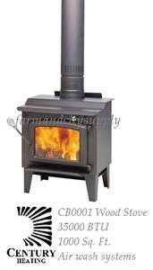 CENTURY HEATING CB00001 EPA S244 WOOD BURNING STOVE 35000BTU W/ AIR