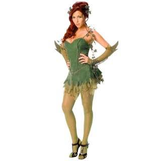 Ladies Poison Ivy Batman Villian Fancy Dress Costume