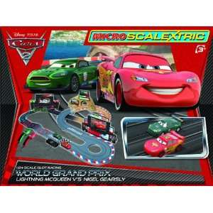 Micro Scalextric Disney Cars 2 1:64 Scale Race Set *NEW