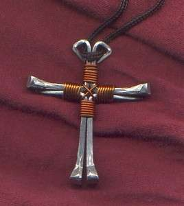 Horseshoe nail cross 30 colors available   made to order cowboy rodeo