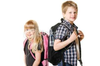 Boy and Girl Child Elementary School Students Royalty Free Stock Photo