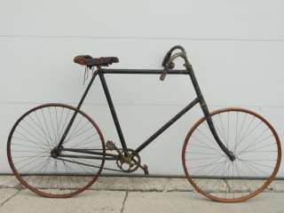 1896 WOOD RIM MENS BICYCLE WOODEN WHEEL BIKE UNIQUE HANDLE BARS