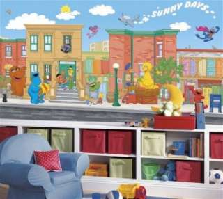 New XL SESAME STREET WALLPAPER MURAL Baby Nursery Decor Bedroom