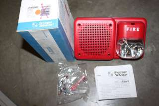 SYSTEM SENSOR SP2R1224MC RED FIRE ALARM SPEAKER STROBE NIB