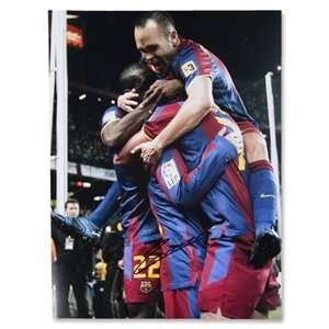 Icons Andres Iniesta Signed Barcelona 5 Real Madrid 0