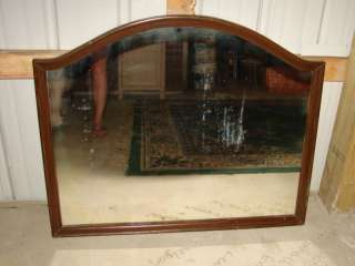 Large Antique Wooden Frame Wall Mirror