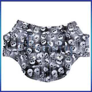Pet Dog Clothes Puppy Apparel Shirt w Skull Pattern S
