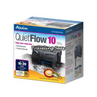 Aqueon Quiet Flow 10 Aquarium Power Fish Filter