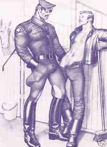 Tom of Finland Beefcake Art Matted Paper Print 062
