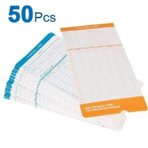 High Quality 2 Sided Attendance Cards 50 Punch Card
