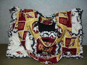 CUSTOM MADE RAG QUILT PURSE ~FLORIDA STATE UNIVERSITY