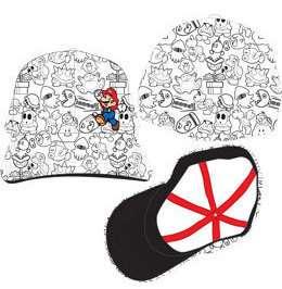 MARIO Super Mario Brothers Collage Baseball Cap Hat BRAND NEW