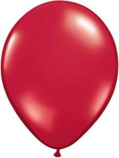 Ruby Red Heart Shaped 6 Latex Balloons x 100