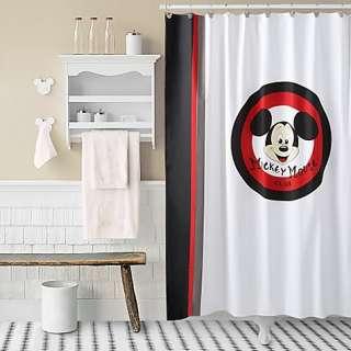 Disney Bath Shower Curtain Hooks Towels MICKEY MOUSE CLUB BATHROOM SET
