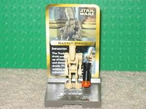 LEGO STAR WARS Battle Droid w card 3343 Minifig Figure