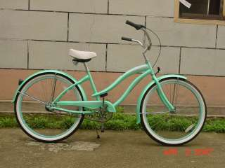 26 3 SPEED beach cruiser bicycle bike Rover Lady Mint green