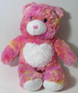 Build a Bear Workshop PINK ORANGE SHERBET TEDDY BEAR Stuffed Plush