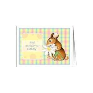 Little Mouse Belated Birthday Wishes Greeting cards Card