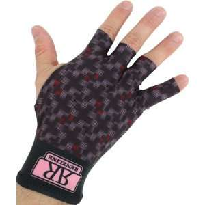 Renzline Billiard Glove   Multi Color Open Tips   Right Hand: