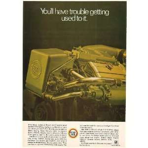 1969 Detroit Diesel Boat Engine Photo Print Ad (50907