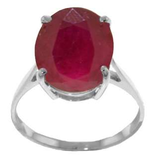 Gold Ring 7.5 ct Natural Red Ruby Oval Cut Solitaire Size 6.5 Sizeable
