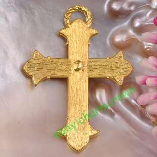 5pcs Gold Plated Enamel Cross Charms CC2043 Free Ship