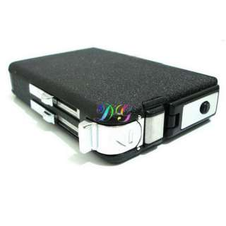 Wind Resistance Tobacco Cigarette Lighter Case Black UK