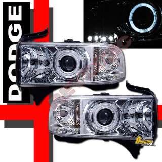 94 01 DODGE RAM 1500 HALO PROJECTOR HEADLIGHTS 96 98 00