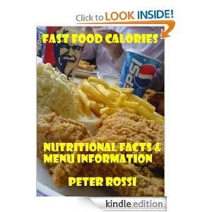 Fast Food Calories Chart   SUBWAY,McDonalds,Starbucks,Pizza Hut,Burger