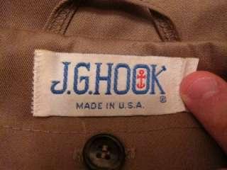 VTG 70s J G Hook Womens USA Union Made Full Length Rain Trench Coat