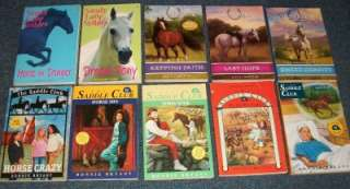 Lot of 10 Horse Story Series Books   Saddle Club, Sandy Lane Stables