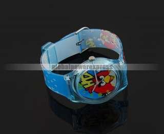 Charm Angry bird Children Cartoon Plastic Wrist watch