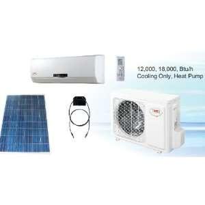 Solar Powered Ductless Heat Pump 18,000 BTU