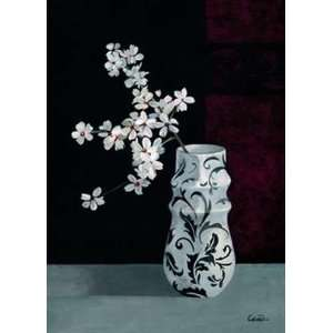 Jarrones Con Flores Blancas II: Pedro Cano. 19.75 inches