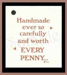 50 HANG TAGS PRICE *WORTH EVERY PENNY* HANDMADE CRAFTS