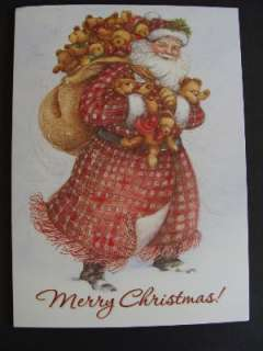 MERRY CHRISTMAS Santa Boxed Country Christmas Cards