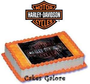 Harley Davidson Extreme Cake Decoration Topper Set Kit Party Favor Toy