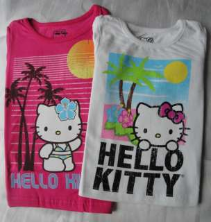 License Hello Kitty Girls Island Tee Shirt   Various Colors