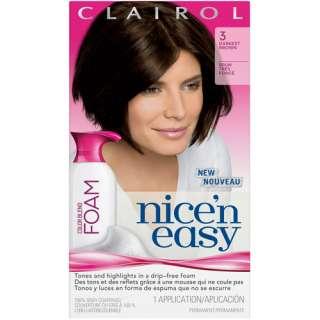 Clairol Nice N Easy Blend Foam Hair Color, Darkest Brown 3 Hair Care